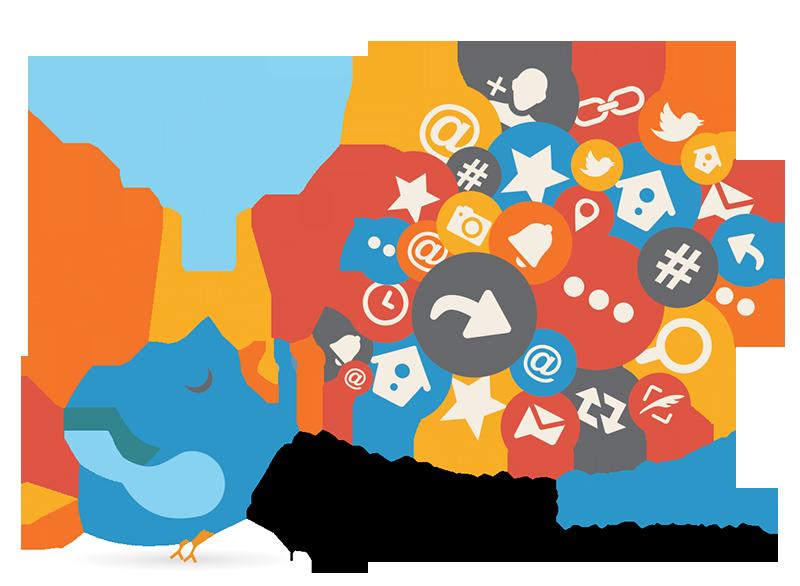 social media bird graphic